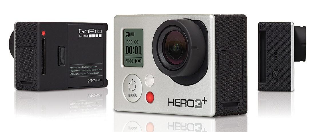 Câmera Hero 3+ Silver Edition 10MP Full HD Preta/Preto CHDHN-302 - GoPro