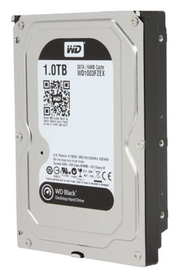 Hard Disk 1TB Black 64MB Sata III WD1003FZEX  - Western Digital