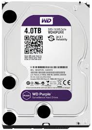 Hard Disk 4TB 3,5 64MB Purple WD40PURX - Western Digital