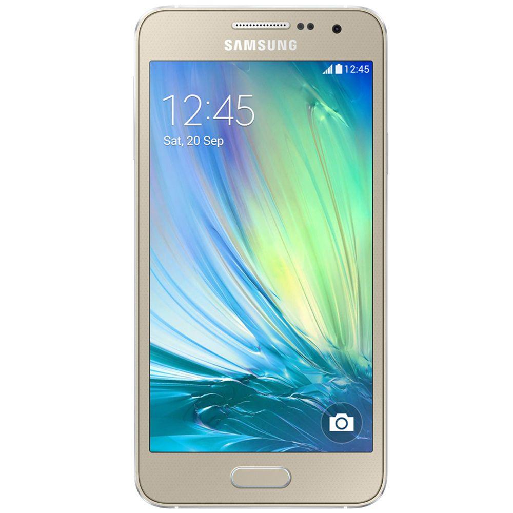 Smartphone Galaxy A3 A300M, Processador Quad Core, Android 4.4, Tela 4.5, 16GB, Câmera 8 MP, 4G, Dual Chip, Dourado - Samsung