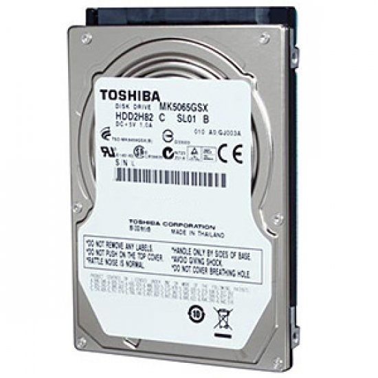 Hard Disk 500GB P/Notebook 2,5 Sata MK5065GSX - Toshiba