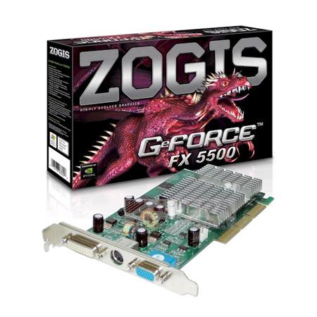 Placa de Vídeo Nvidia 256MB GeForce FX5500 AGP ZO55-DAGP - Zogis
