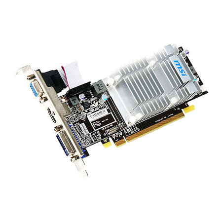 Placa de Vídeo Radeon HD5450 1GB DDR3 64Bits R5450-MD1GD3H/LP - MSI