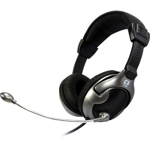 Headset Vibration Xcite Volcano MI-2881RS Preto/Prata - C3tech