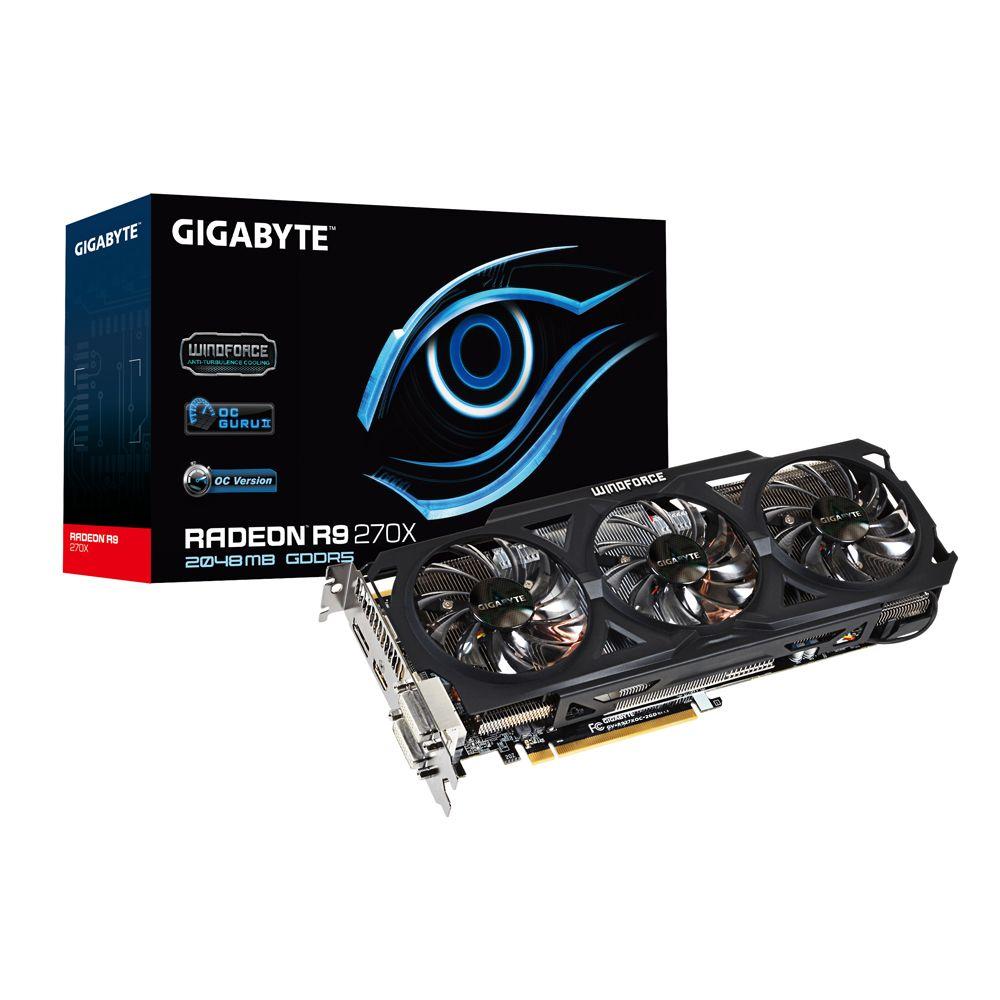 Placa de Vídeo Radeon R9 270X 2GB DDR5 256Bit GV-R927XOC-2GD - Gigabyte