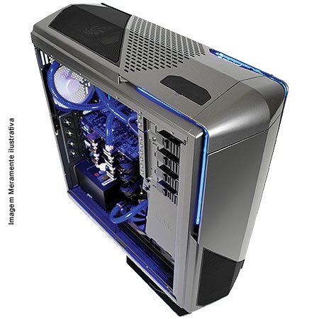 Gabinete Ultra Tower Phantom 820 Gun Metal C/Controlador de Led CA-PH820-G1 - NZXT