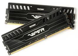 Memória Viper 3 8GB (2x4GB) DDR3 1600Mhz PV38G160C9K Preto - Patriot