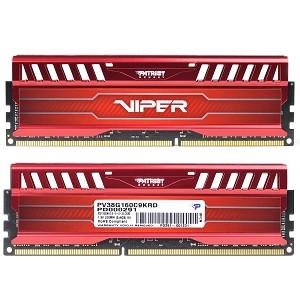 Memória Viper 3 Venom Red 8GB (2x4GB) DDR3 1600Mhz PV38G160C9KRD - Patriot