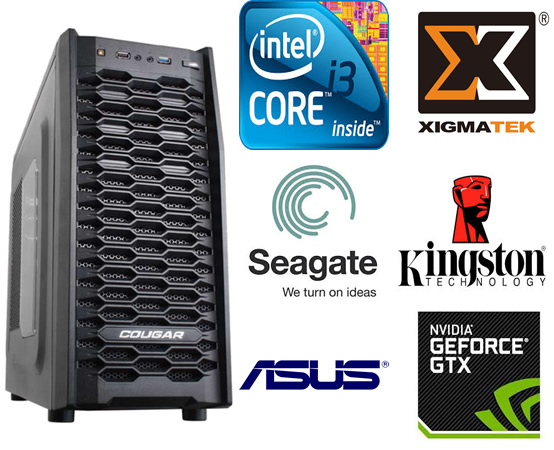 CPU Gamer Core I3 3.5Ghz 4150, Mem 8GB Kingston KVR1333D3N9/8GB, MB Asus H81M-C, SSHD 1TB Seagate Fonte 600W Xingmatek 80 Plus, VGA GTX770 2GB DDR5 256Bits SC, DVD-RW - Glacon