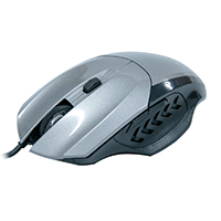 Mouse Óptico Gamer Precision MG-06 USB Cinza 1600DPI - Evus