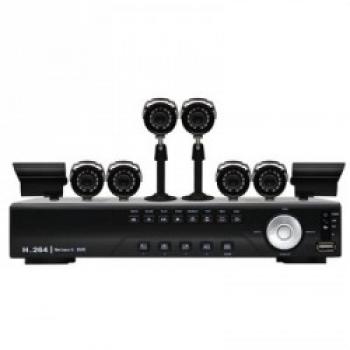 Kit de Vigilancia Digital CFTV DVR 8 Canais C/8 Cameras CMOS DK8-C1808CM (17682-8) - Vonnic