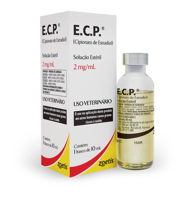 ECP E.C.P. 10 ML CIPIONATO DE ESTRADIOL PARA TRATAMENTO DE AUSÊNCIA DE CIO E FALSA PRENHEZ ZOETIS  - Raça Virtual