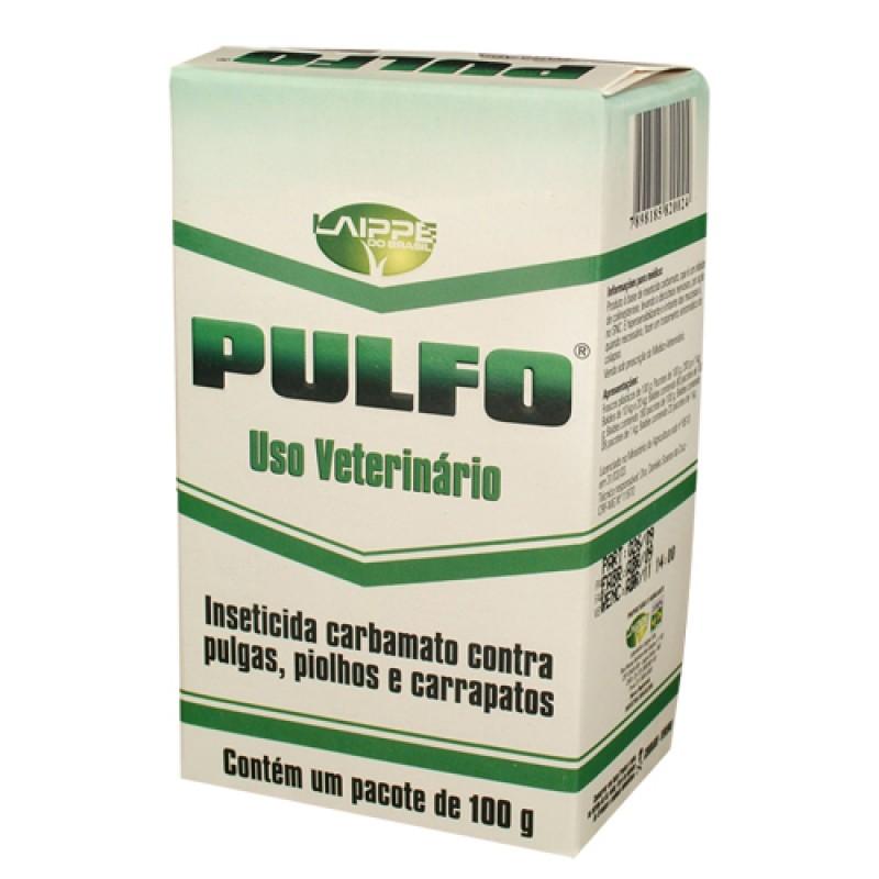 PULFO 100G INSETICIDA CARBAMATO PULGAS PIOLHOS CARRAPATOS INSETOS ÁCAROS LAIPPE  - Raça Virtual