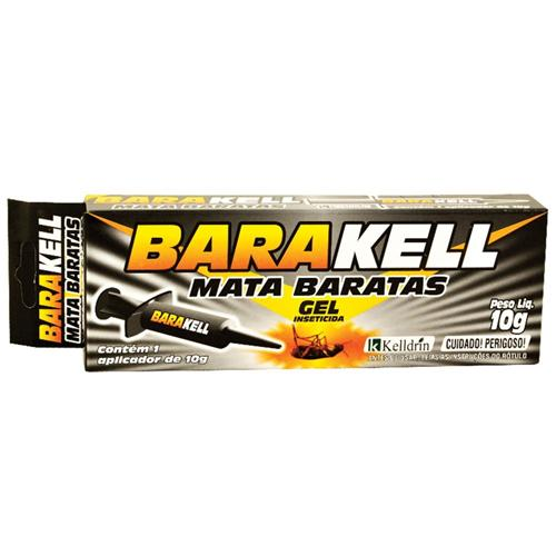 BARATICIDA BARAKELL GEL SERINGA 10G INSETICIDA COM APLICADOR PARA COMBATER EXTERMINAR E MATAR BARATAS KELLDRIN  - Raça Virtual