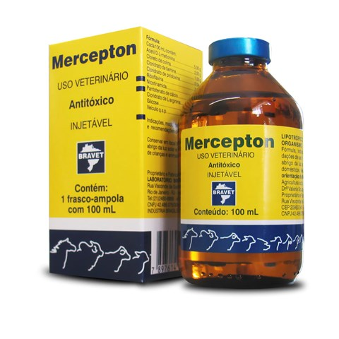 MERCEPTON 100ML ANTITÓXICO BRAVET  - Raça Virtual