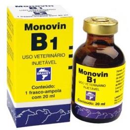 MONOVIN B1 20ML VITAMINA POLINEURITE NERVOS INAPETÊNCIA BRAVET  - Raça Virtual