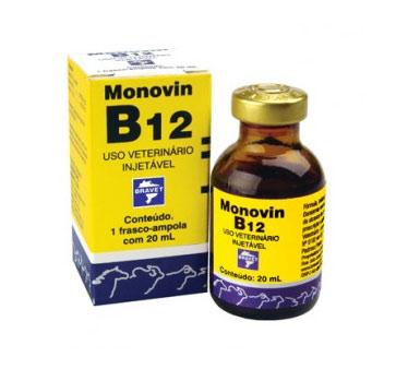 MONOVIN B12 20ML VITAMINA ANEMIAS MACROCÍTICAS REUMATISMOS HEMORRAGIAS BRAVET  - Raça Virtual