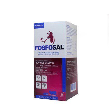 FOSFOSAL  VIRBAC  500ML  SUPLEMENTO PARA BOVINOS E SUINOS    - Raça Virtual