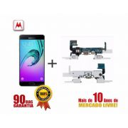 Display Lcd com Tela Touch Samsung A5 Preto + Flex Conector de Carga