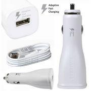 Carregador Veicular Micro Usb Fonte Samsung Turbo e Cabo Usb Original  (10- 30 volts entrada)