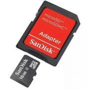 Cartão Micro Com Adaptador 16GB Sandisk