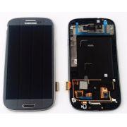 Tela Display Touch Screen Visor Vidro Galaxy S3 4g I9305 Cinza