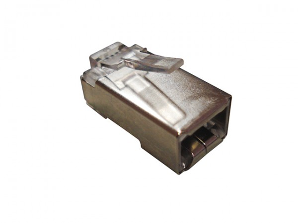 Conector Plug Blindado CAT5E RJ-45 Macho C/ 100 Unidades NETworkBOX