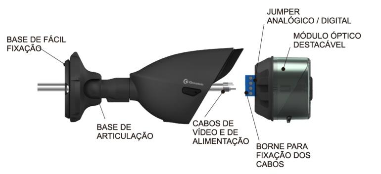 Câmera Híbrida Jetcam Greatek HD+ Cinza 30 metros 1280 x 720 - SEGJ-1024P