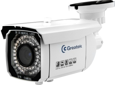 Camera IR Externa Greatek CCD Sony 760H Lente Varifocal 4-9mm SEGC-7650E