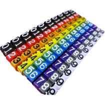 Marcador Anilha P/ Identificação C/ 100 Unidades Colorido Networkbox