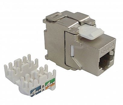 Conector Fêmea / Keystone RJ-45 CAT6 Blindado Networkbox