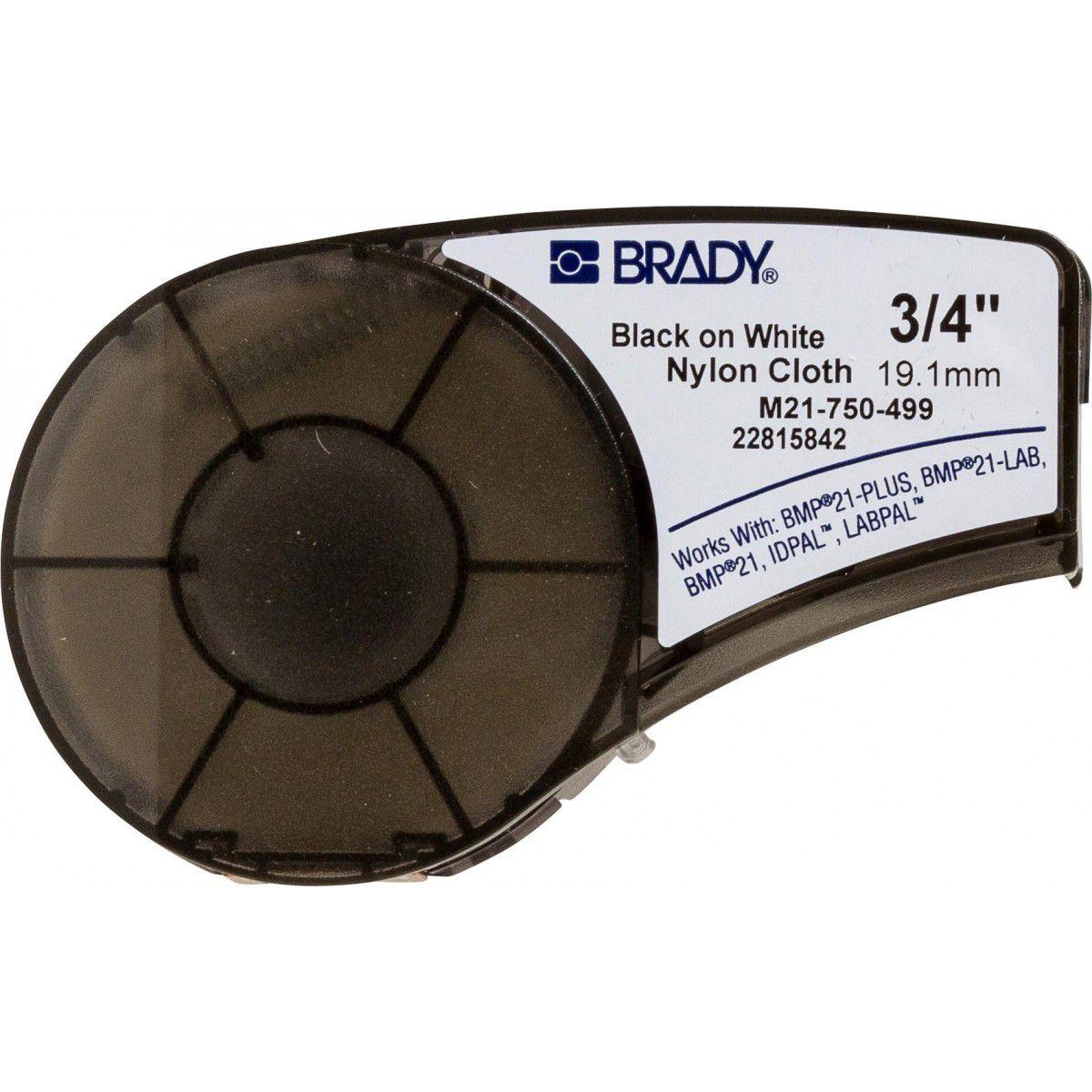 Etiqueta / Fita para Rotuladora Brady (19,05 MM X 4,80 M) NYLON BRANCO - M21-750-499