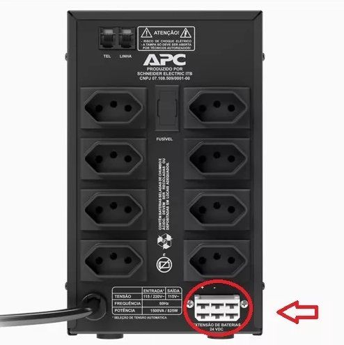 Kit Bateria Externa Para Nobreak (2 x Bateria 1270E + Cabo)