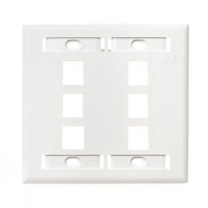 Placa / Espelho Plano 6 Portas / Posições RJ-45 Furukawa - 35050093
