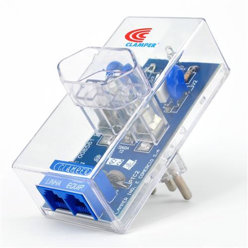 Protetor contra Surtos de Tensão Clamper - Energia + Tel