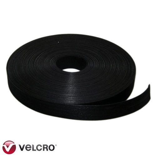 Rolo de Fita Velcro QWIK TIE 22,86m x 19mm Preto Original Velcro