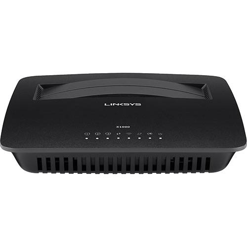 Roteador Wireless N Cisco/Linksys 300 Mbps com Modem ADSL 2+ Integrado - X1000