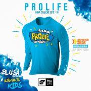 Blusa Infantil Sun Protection Prolife 02 anos - Proteção Solar UV UPF 50+