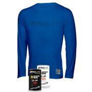 Blusa Masculina Sun Protection Prolife Azul - Proteção Solar UV UPF 50+