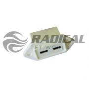 Carregador USB Náutico Branco+