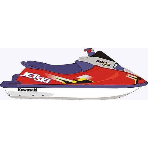 Kit Adesivo Jet Ski Kawasaki ZXI 1100 1996  - Radical Peças - Peças para Jet Ski