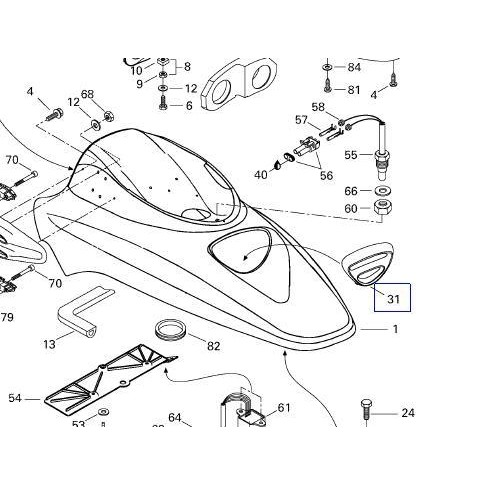 Grade Frontal para Jet Ski Sea Doo GTI GTX LRV  - Radical Peças - Peças para Jet Ski
