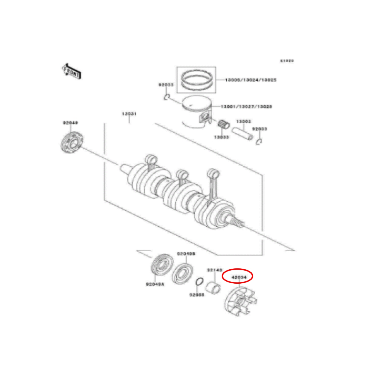 Acoplador para Jet Ski Kawasaki 900 24mm  - Radical Peças - Peças para Jet Ski