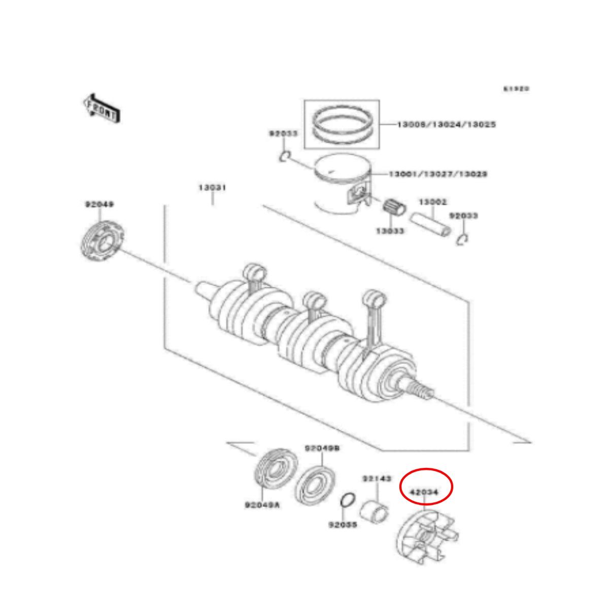 Acoplador para Jet Ski Kawasaki e Sea Doo 18mm  - Radical Peças - Peças para Jet Ski