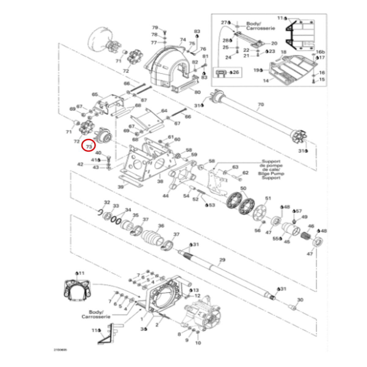 Acoplador para Jet Ski Sea Doo 580/650 24mm  - Radical Peças - Peças para Jet Ski