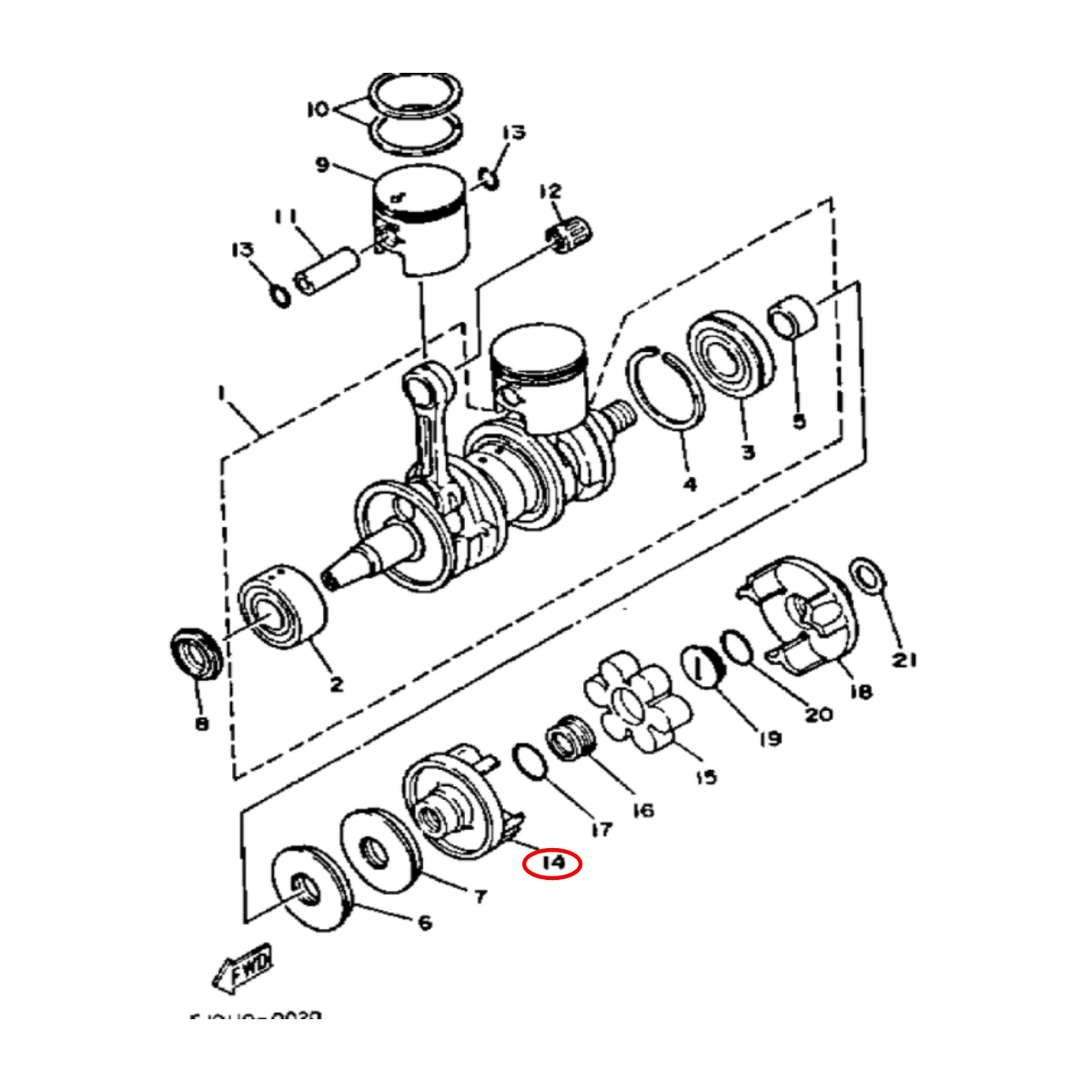 Acoplador para Jet Ski Yamaha 22mm 3D  - Radical Peças - Peças para Jet Ski