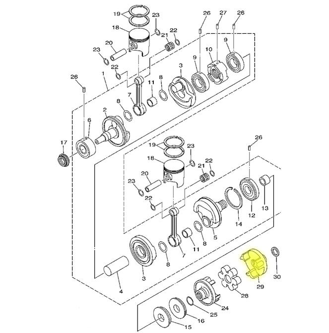 Acoplador para Jet Ski Yamaha 24mm 3D  - Radical Peças - Peças para Jet Ski