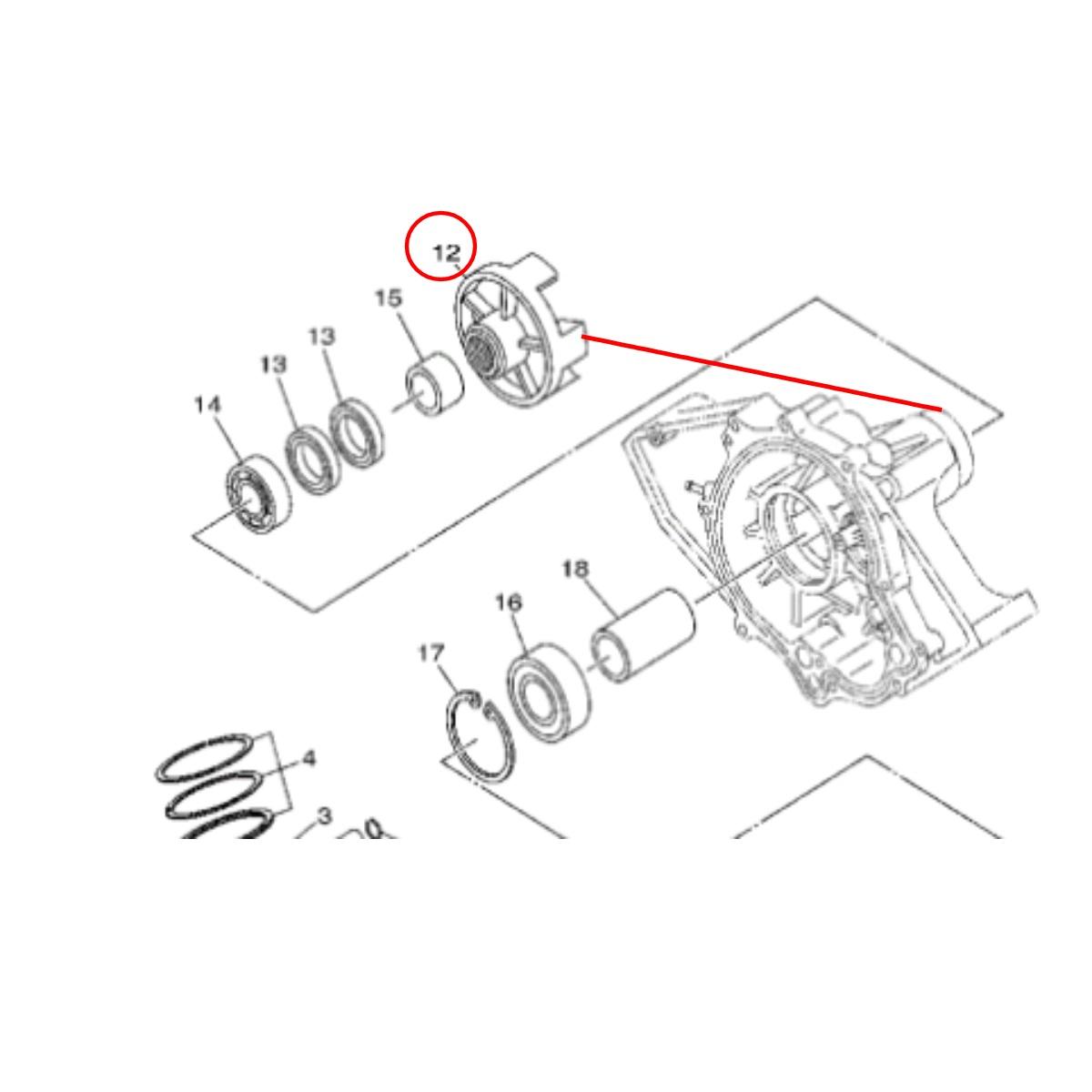 Acoplador para Jet Ski Yamaha VX 110 Original  - Radical Peças - Peças para Jet Ski