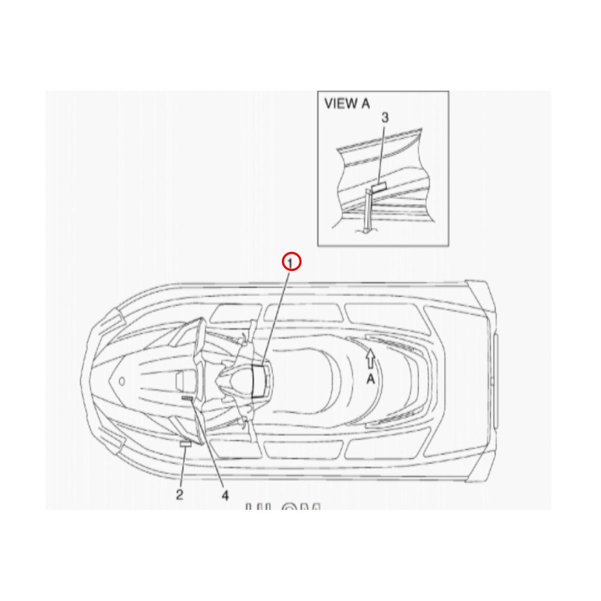 Adesivo Tampa Porta Documento Jet Ski Yamaha VXR Nacional F2N-U41B1-00-00+  - Radical Peças - Peças para Jet Ski