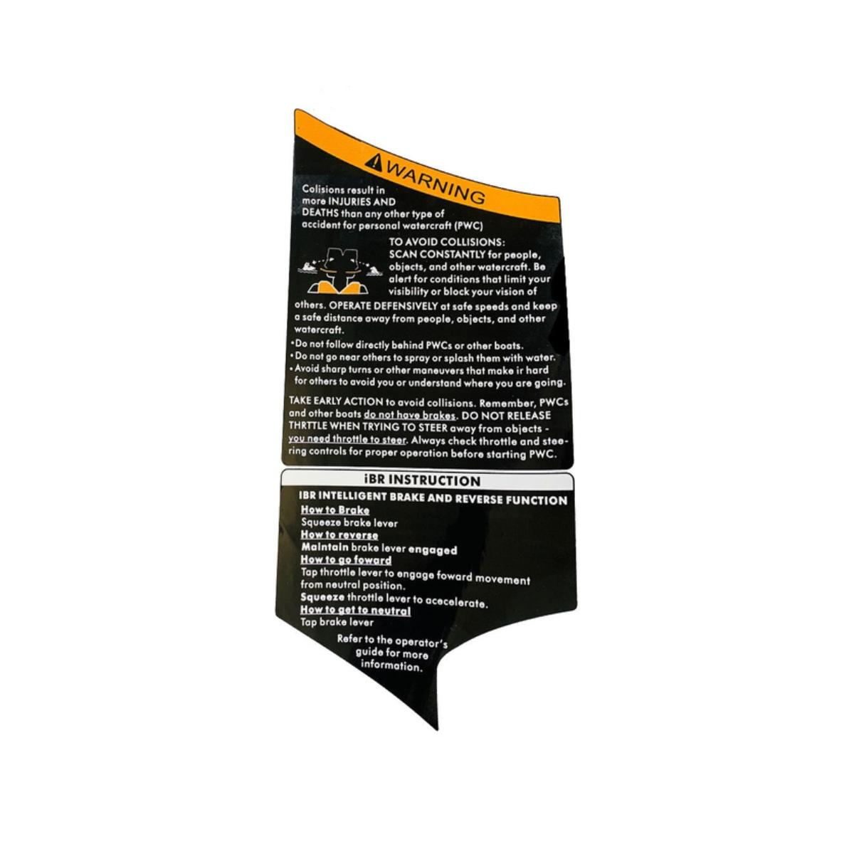 Adesivo Tampa Porta Luva Lado Esquerdo Gti 2012 Nacional  - Radical Peças - Peças para Jet Ski